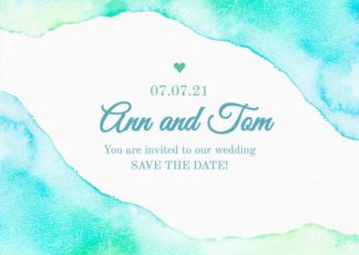 Wedding Invitation Greeting Card Template