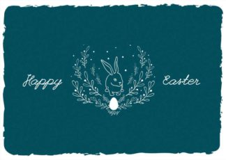 Minimalist Easter Greeting Card Template