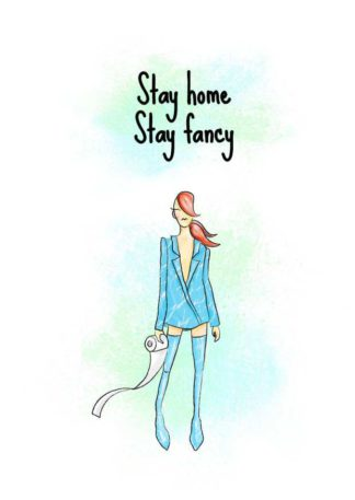 Stay Home and Fancy Greeting Card