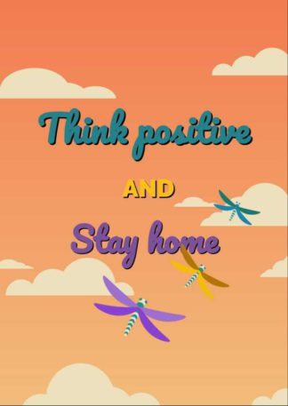Think Positive Greeting Card Template
