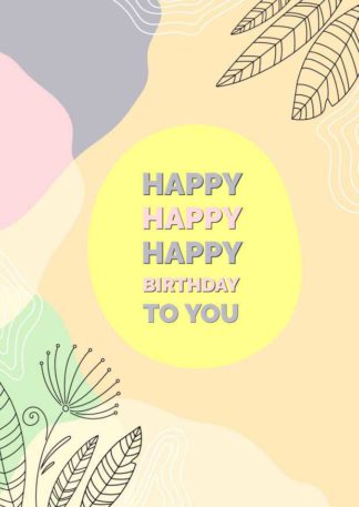 Abstract Birthday Greeting Card Template