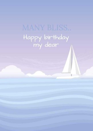 Sailboat Birthday Greeting Card Template