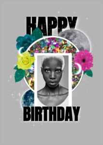 Photo collage Birthday Greeting Card Template