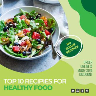 Healthy Food Order Banner Template