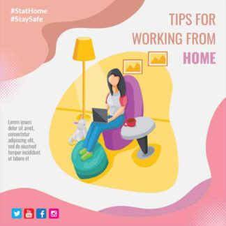Work from Home Tips Instagram Post