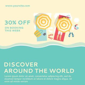 Holiday Booking Discount Instagram Post