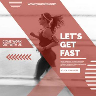 Sports and Workout Banner Template