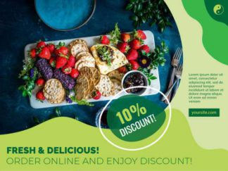 Food Delivery Discount Facebook Post