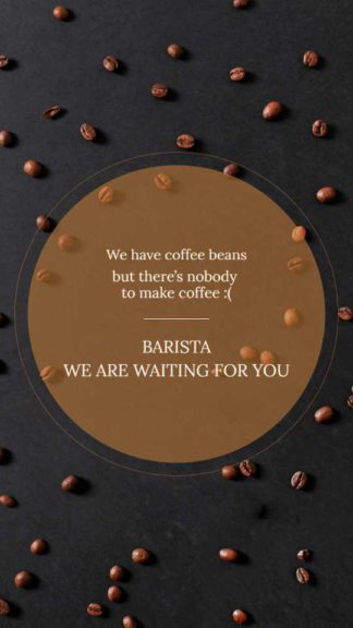 We are Hiring Barista Instagram Story