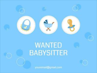 Wanted Babysitter Facebook Post