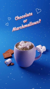 Hot Chocolate and Marshmallows Instagram Story