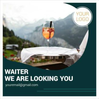 Waiter We Are Looking You Instagram Post