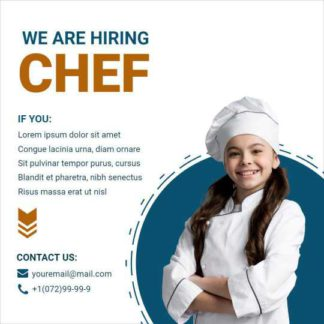 We are Looking Chef Instagram Post