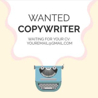 Wanted Copywriter Instagram Post