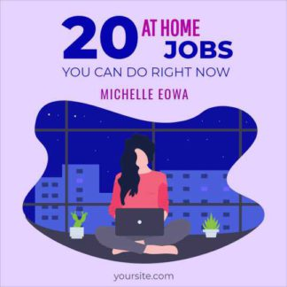 Work at Home Job Instagram Post