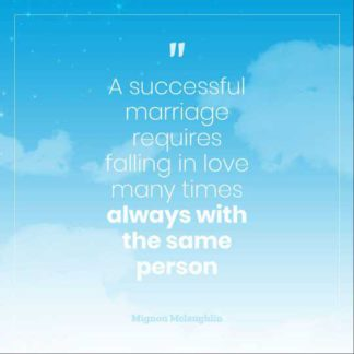 Cloudy Marriage Quotes Instagram Post Template