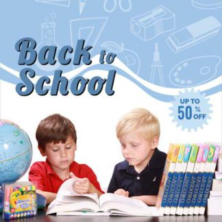 Back to School Product Discount Template