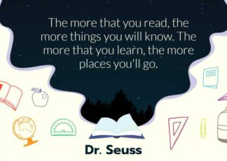 Book and School Motivational Quote