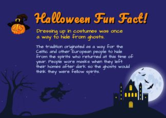Halloween Fun Fact Template