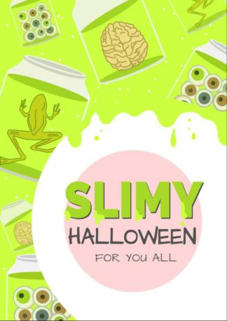 Slimy Halloween Greeting Card Template