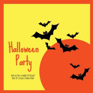 Halloween Party Invitation Instagram Template
