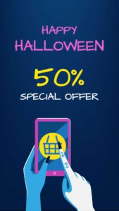 SPECIAL OFFER! Post about Halloween Discount