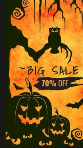 Halloween Sale Discount Instagram Story Template