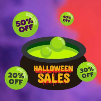Halloween Sale Banner Template