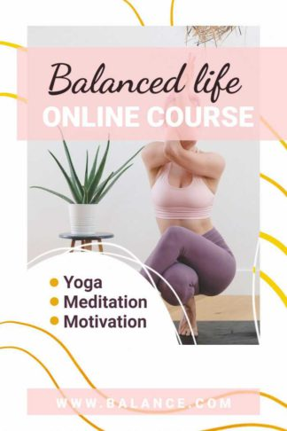 Balanced Life Online Course Book Cover Template