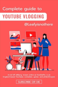 YouTube Vlogging Book Cover Template