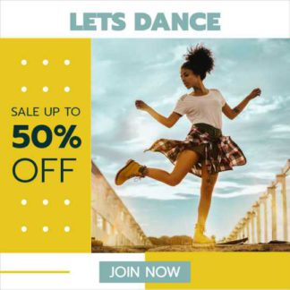 Discount for Dance Lessons Instagram Banner