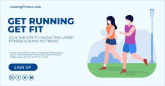 Running and Fitness LinkedIn Template