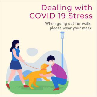 COVID Stress Awareness Instagram Post Design