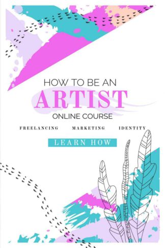 Art Online Course Book Cover Template