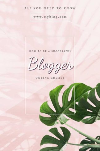 Bloggers Online Course Book Cover Template