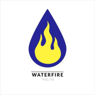 Water and fire Logo Template