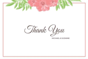 Colorful Wedding Invitation Template - Thank You