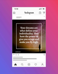 Free Motivational Sky Quote Instagram Post Template