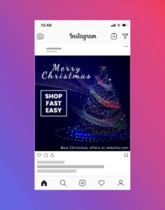Merry Christmas Holiday Greetings Instagram Post