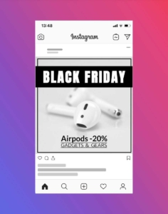Airpods Holiday Discount Banner Template