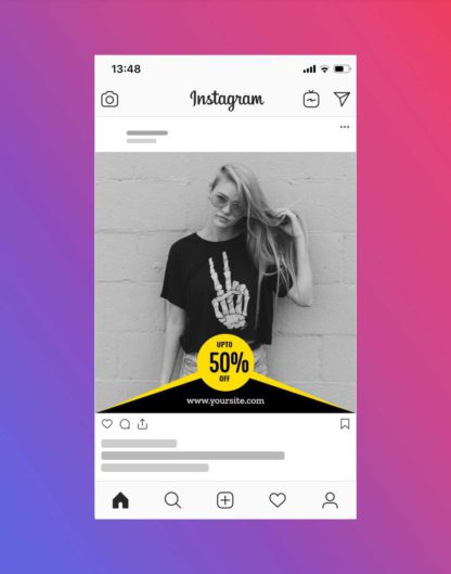 Clothing Brand Sale and Discount Offer Instagram Post