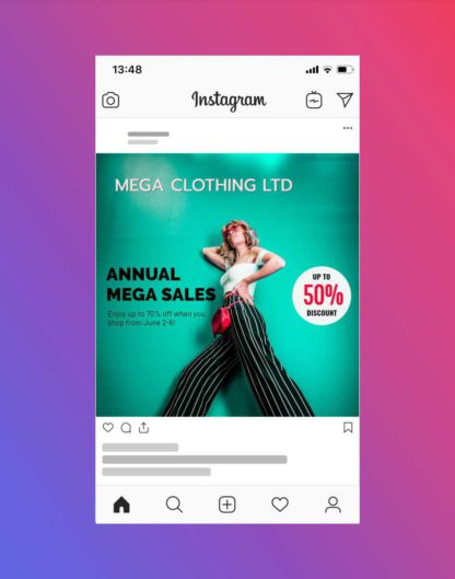 Fashion Brand Sale and Discount Offer Instagram Post