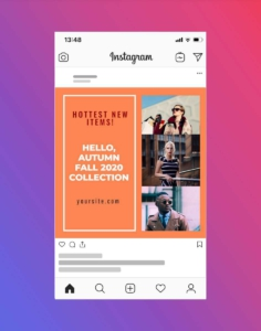 Autumn Fall Fashion Instagram Post