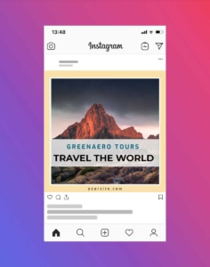 Tour Guide and Travel Agency Instagram Template
