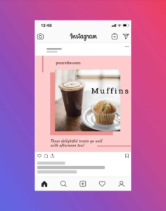Muffin and Coffee Instagram Post Maker