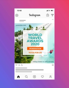 Travel and Tourism Instagram Post Design
