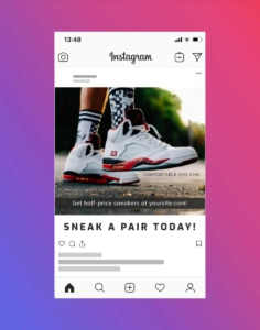 Sneaker Promotion Instagram Post Maker