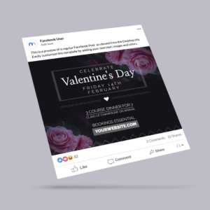 Valentines Day Event Facebook Post Template