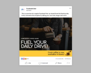 Coffee and Barista Facebook Post Template