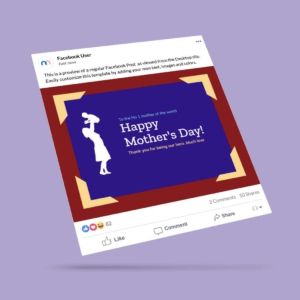 Mothers Day Facebook Post Template